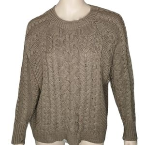 Aerie AEO Chunky Cable Knit Cotton Blend Pullover